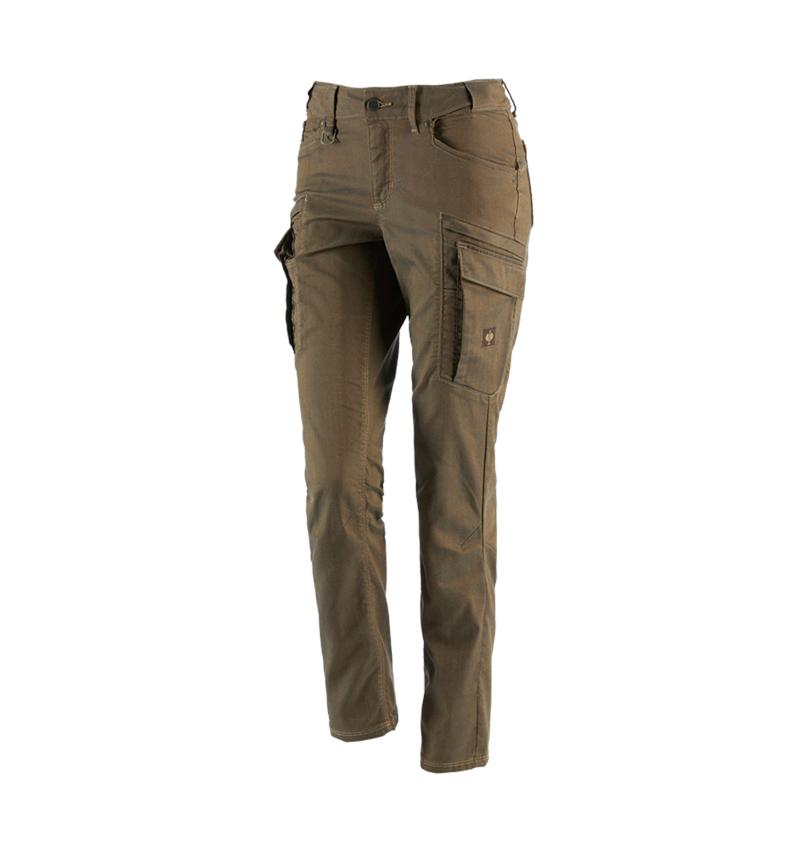 Spodnie robocze: Spodnie typu cargo e.s.vintage, damska + sepia
